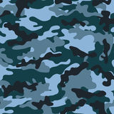 Medium Camouflage. Medium army camouflage pattern with various muted blue tones Vector Illustration