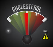 Medium cholesterol level illustration design Stock Images