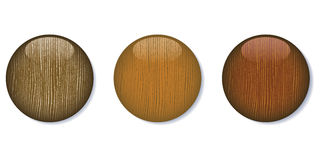 Medium Dark Glossy Wooden Buttons Royalty Free Stock Photography