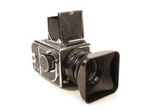 Medium Format Camera. On White Background Stock Images
