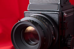 Medium Format Camera and Lens Royalty Free Stock Photo