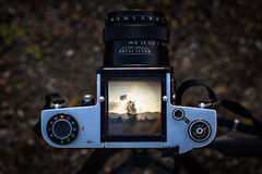 Medium format camera. Royalty Free Stock Photo
