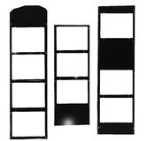 Medium format filmstrip,picture frames Stock Photography
