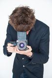 Medium format photographer Royalty Free Stock Photos