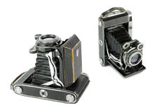 Medium format portable vintage folding film camera Stock Images