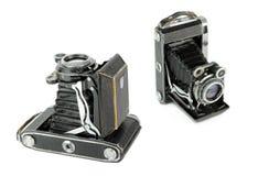 Medium format portable vintage folding film camera Stock Images