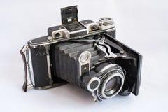 Medium format portable vintage folding camera Stock Image