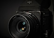 Medium Format Vintage SLR Camera Royalty Free Stock Photos