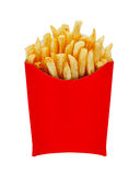 Medium fries in box isolated on white Royalty Free Stock Photography