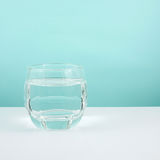 The medium glass of pure water Royalty Free Stock Image