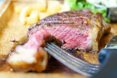 Medium grill sirloin beef steak Royalty Free Stock Image