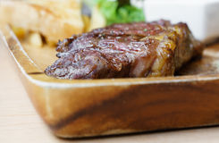 Medium grill sirloin beef steak Stock Photos