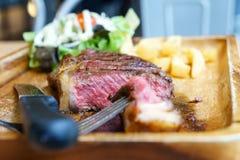 Medium grill sirloin beef steak Stock Image