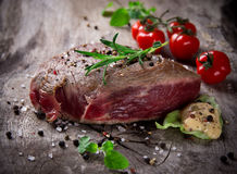 Medium Grilled 500g bbq steak Royalty Free Stock Photo
