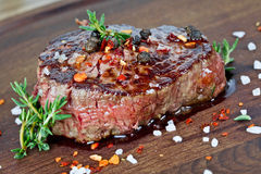 Medium grilled steak Stock Photography