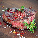 Medium grilled steak Stock Image