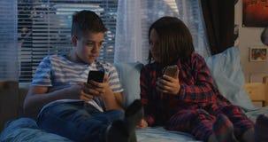 Siblings talking at night