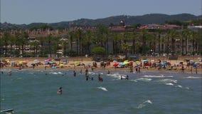 Family Beach in Salou, Catalonia,  Spain