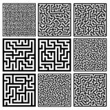 Medium mazes set. Illsutration eps 10 Stock Photography