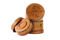 Medium old antique lacquer wares Stock Photography