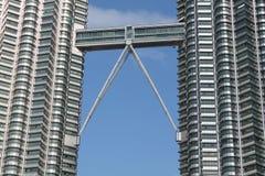 The medium part of klcc petronas tower Royalty Free Stock Photo