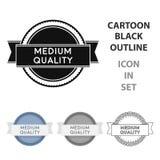 Medium quality icon in cartoon style isolated on white background. Label symbol stock vector illustration. Stock Photo