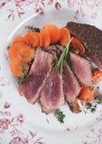 Medium rare beef steak Royalty Free Stock Images