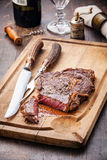 Medium rare Beef steak Ribeye Stock Photos