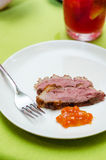 Medium rare duck breast Stock Photos