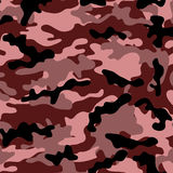 Medium Raspberry Camouflage. Medium army camouflage pattern with various muted red tones Royalty Free Illustration