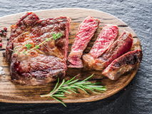Medium Ribeye steak. Royalty Free Stock Image