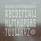 Medium serif font in retro style Stock Photos
