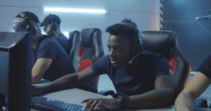 Gamer destroying keyboard after losing match