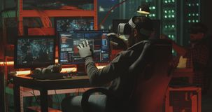 Hackers using VR headset and gloves