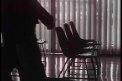 Medium shot of legs walking into room stock video footage