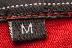 Medium Size. Macro Photo Of A Clothing Label Showing Size M (Medium Royalty Free Stock Images