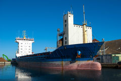 Cargo container ship in the harbor Stock Photography