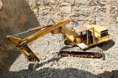 Medium sized excavator Royalty Free Stock Photo