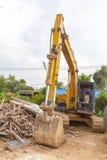 Medium sized Excavator Royalty Free Stock Images