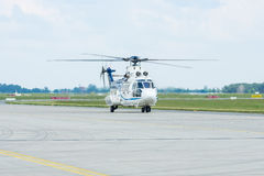 "Medium utility helicopter Eurocopter AS532U2 ""Cougar"". Royalty Free Stock Photos"