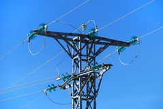Medium voltage tower Royalty Free Stock Image