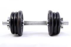 Medium Weight Dumbbell. Medium weighted 8kg dumbbell isolated on white background Stock Photo