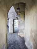 Medival archway. In the town Landsberg am Lech in Bavaria, Germany Stock Images