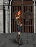 Medival Castel kobiety Piękna ilustracja Zdjęcia Royalty Free