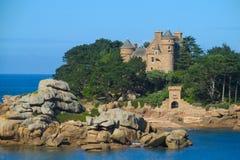 Medival castle on seaside. Medival castle on rocky seaside Royalty Free Stock Images