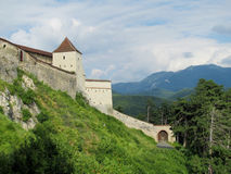 Medival castle in Romania, fortificated church wall. Medival castle walls. Medival castle in Romania, fortificated church wall, fortified church of Cristian Stock Image
