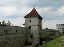 Medival castle in Romania, fortificated wall. Medival castle walls. Medival castle in Romania, fortificated church wall, fortified church of Cristian Royalty Free Stock Image