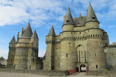 Medival castle in Vitre, France Stock Photos
