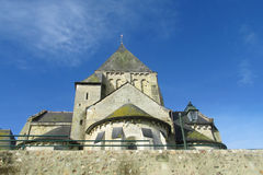 Medival cathedral walls. France. Fortificated wall and tower Stock Image