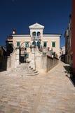 Medival palace in Rovinj. Beautiful medival palace in Carrera street in Rovinj Stock Photo